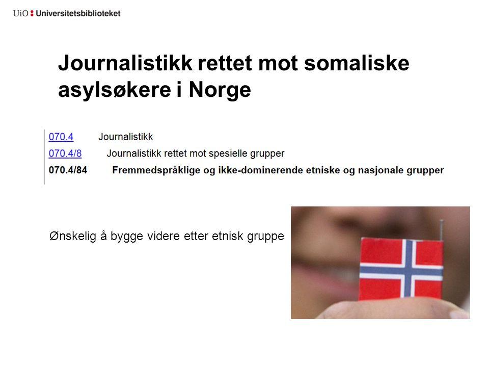 Journalistikk rettet mot somaliske asylsøkere i Norge Ønskelig å bygge videre etter etnisk gruppe