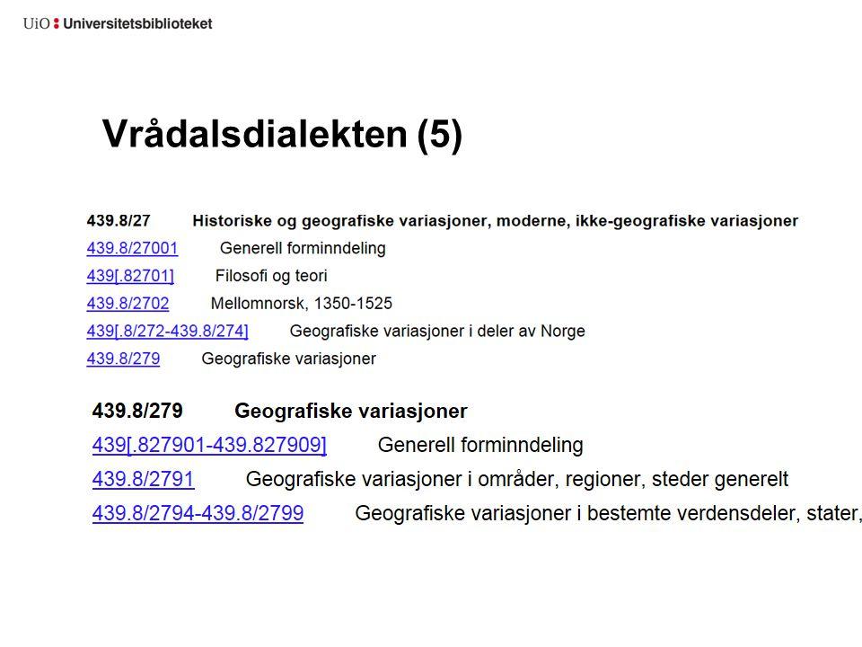 Vrådalsdialekten (5)