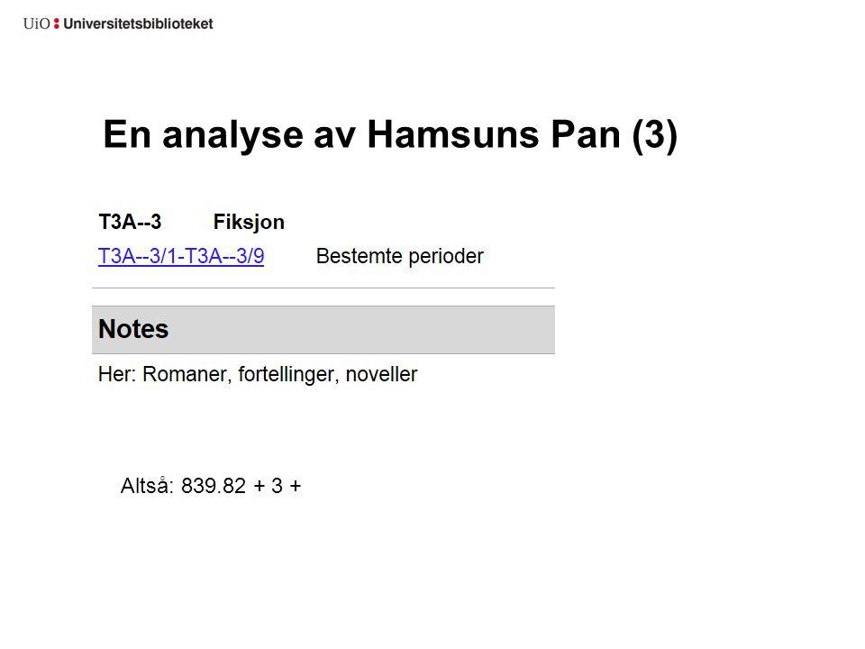 En analyse av Hamsuns Pan (3) Altså: 839.82 + 3 +