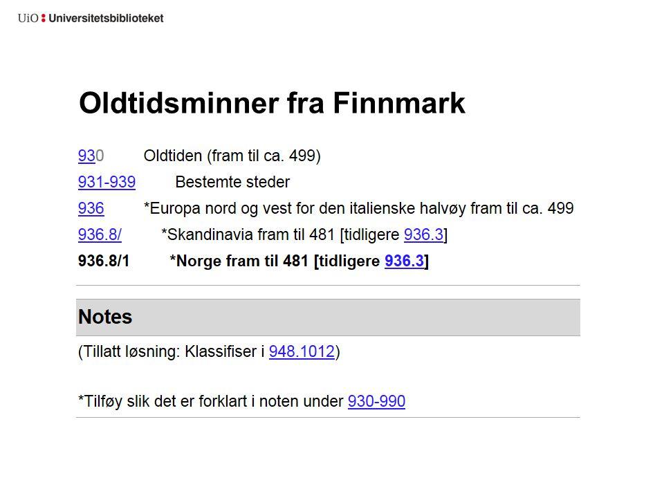 Oldtidsminner fra Finnmark