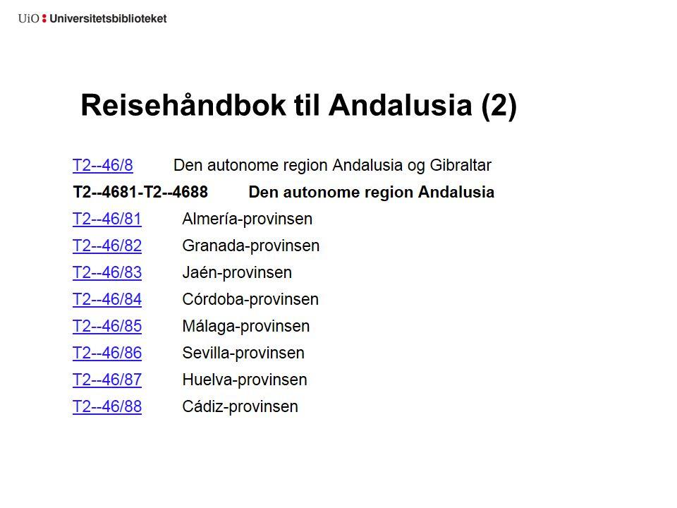 Reisehåndbok til Andalusia (2)
