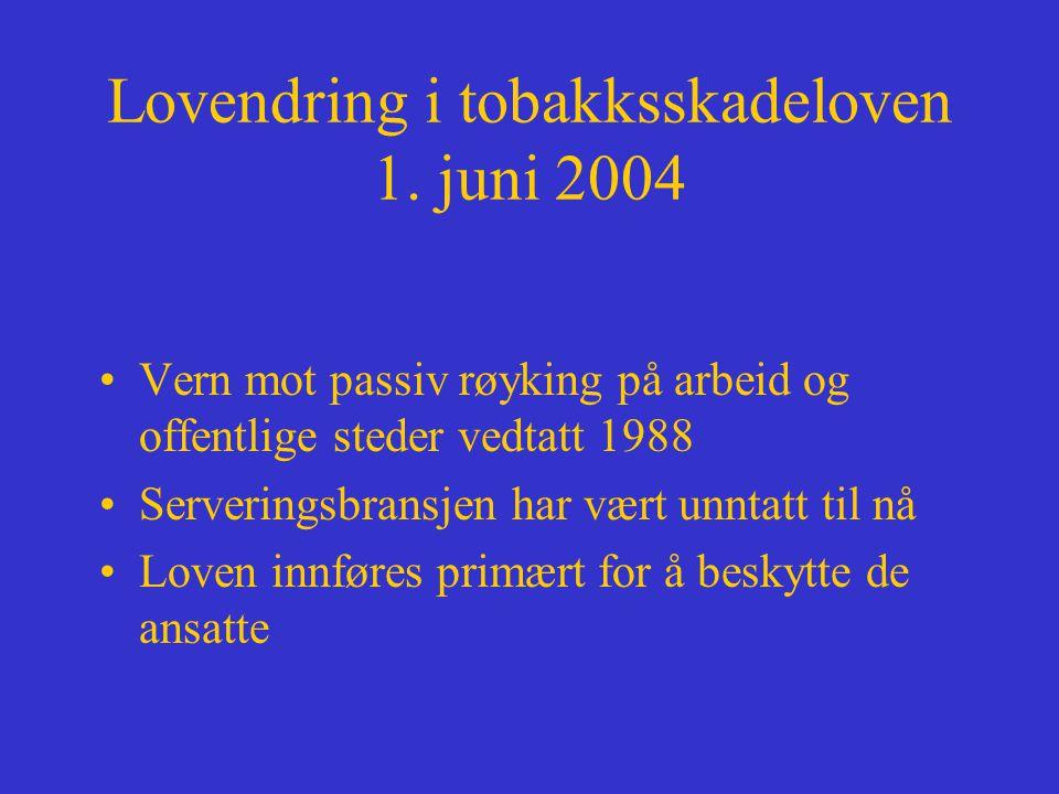 Lovendring i tobakksskadeloven 1.