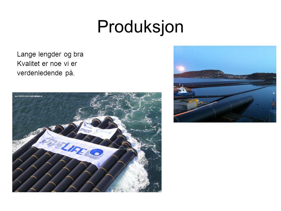 Produksjon Lange lengder og bra Kvalitet er noe vi er verdenledende på.