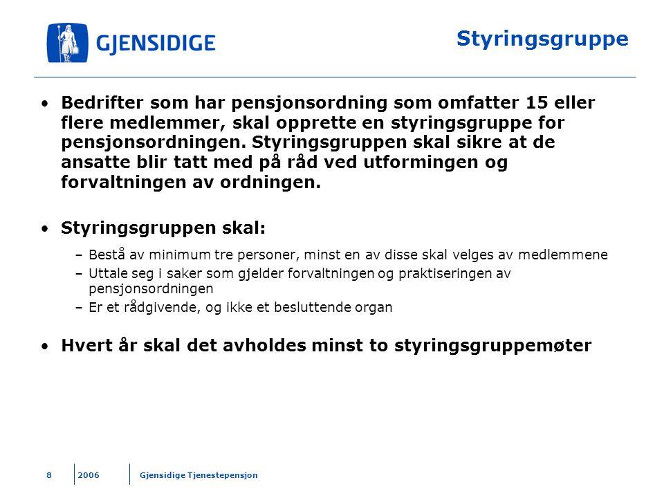 2006 Gjensidige Tjenestepensjon29 Endre investeringsprofil – trinn 3 Balansert