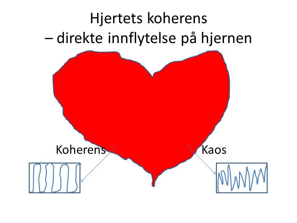 Hjertets koherens – direkte innflytelse på hjernen Koherens Kaos Ved