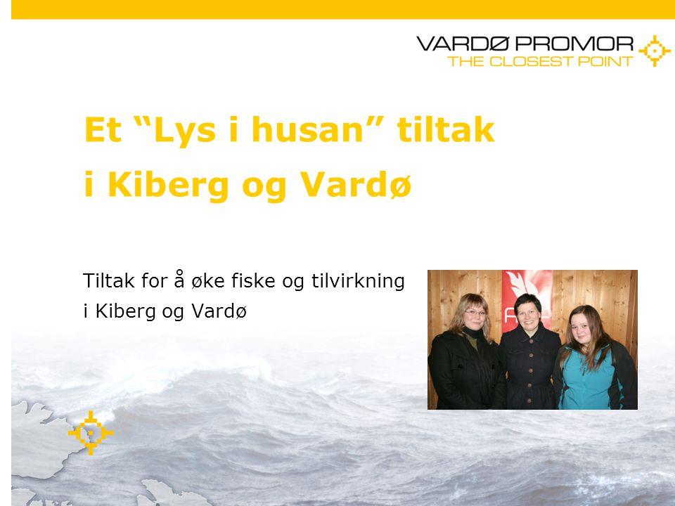 11/21/20141 Et Lys i husan tiltak i Kiberg og Vardø Tiltak for å øke fiske og tilvirkning i Kiberg og Vardø