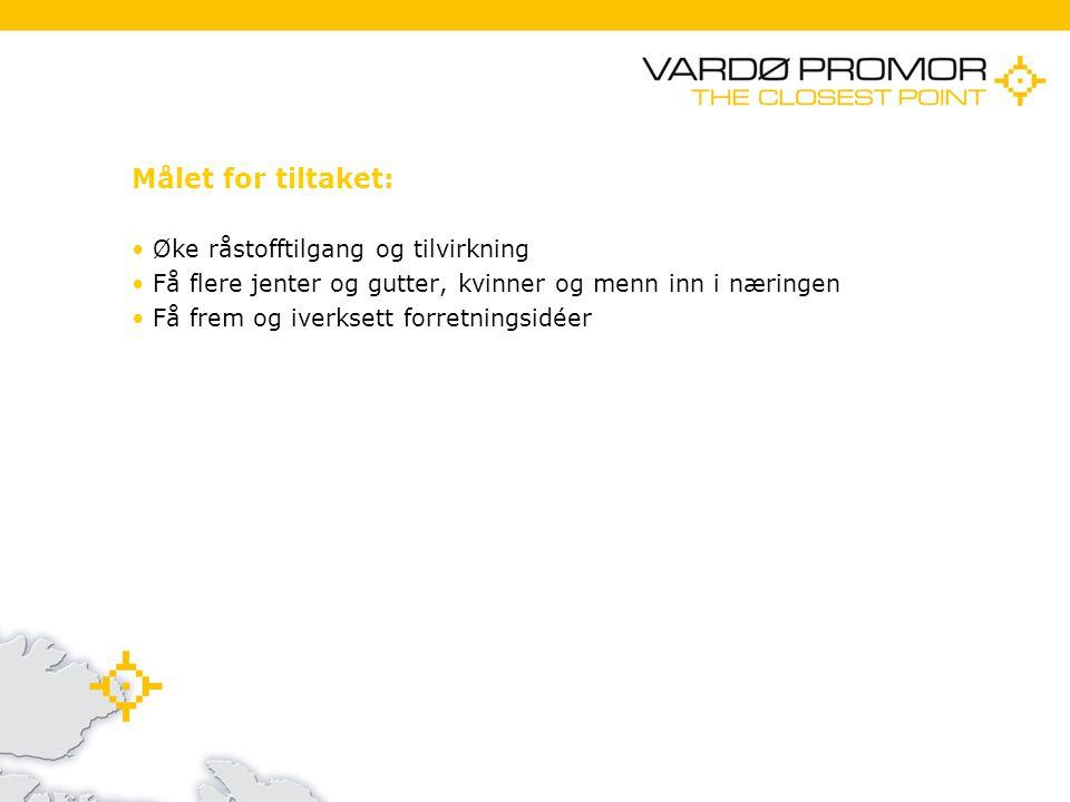 11/21/20142 Målet for tiltaket: Øke råstofftilgang og tilvirkning Få flere jenter og gutter, kvinner og menn inn i næringen Få frem og iverksett forretningsidéer