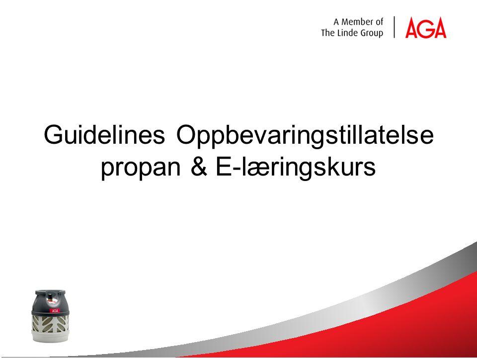 Guidelines Oppbevaringstillatelse propan & E-læringskurs