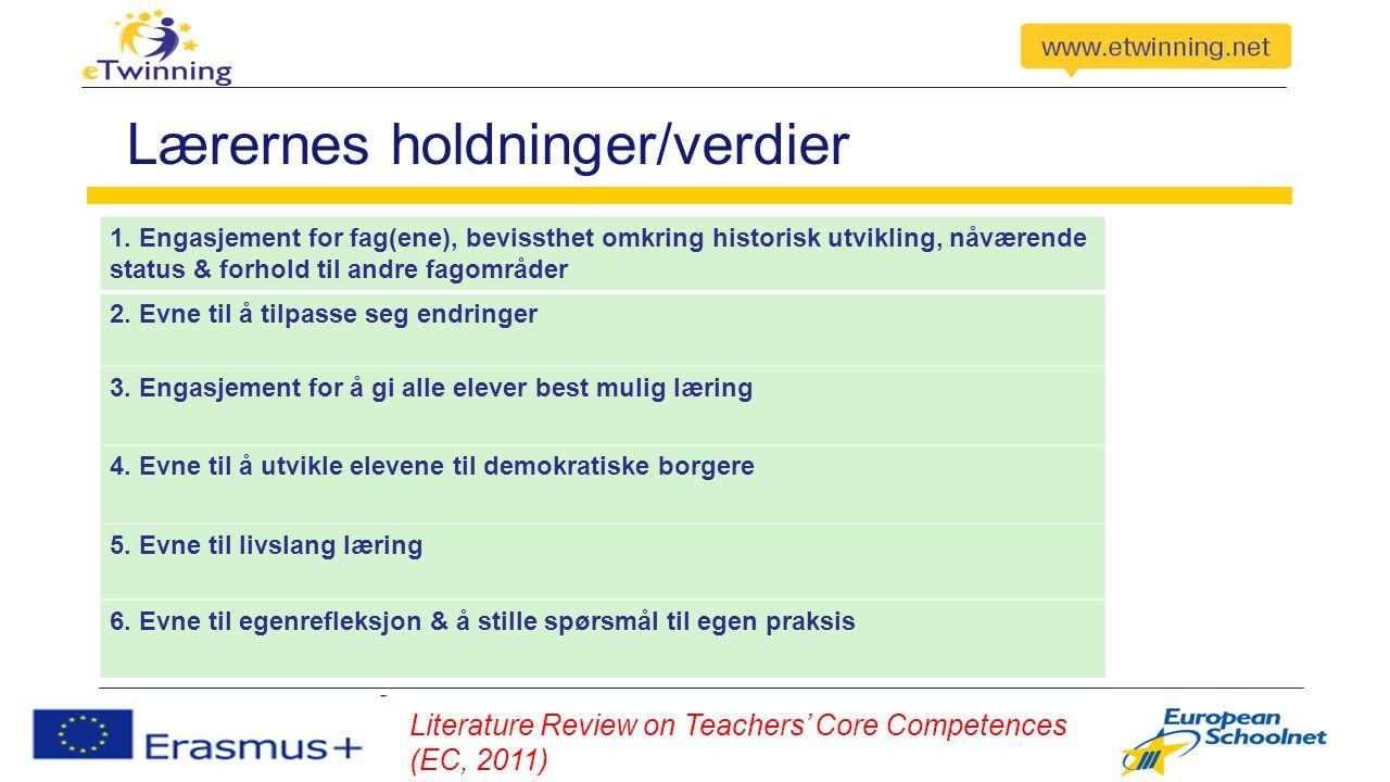 Lærernes holdninger/verdier 1.