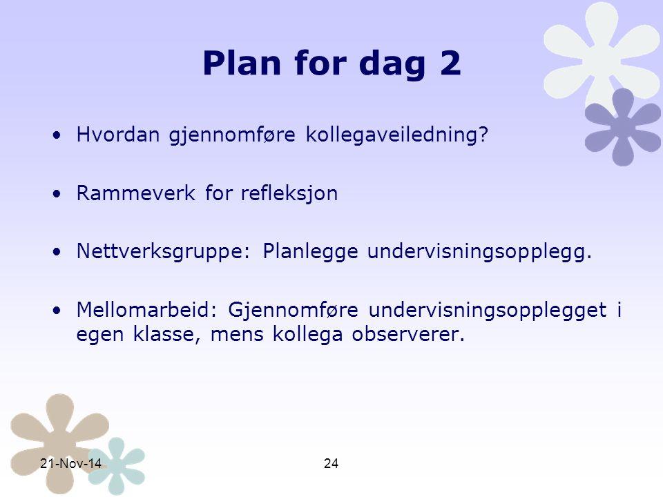 Plan dag 3 Teoribakgrunn for konkretisering og visualisering i matematikk.