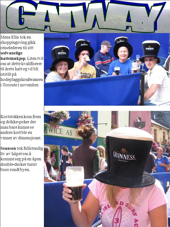 Mens Elin tok en shoppingsving gikk reiselederen til sitt sedvanelige hatteinnkjøp. Liten tvil om at dette kvalifiserer til årets hatt og vil bli utst