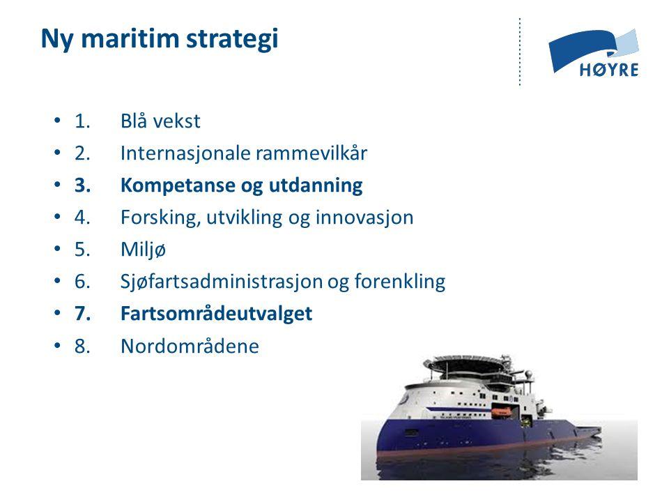 Ny maritim strategi 1.Blå vekst 2. Internasjonale rammevilkår 3.