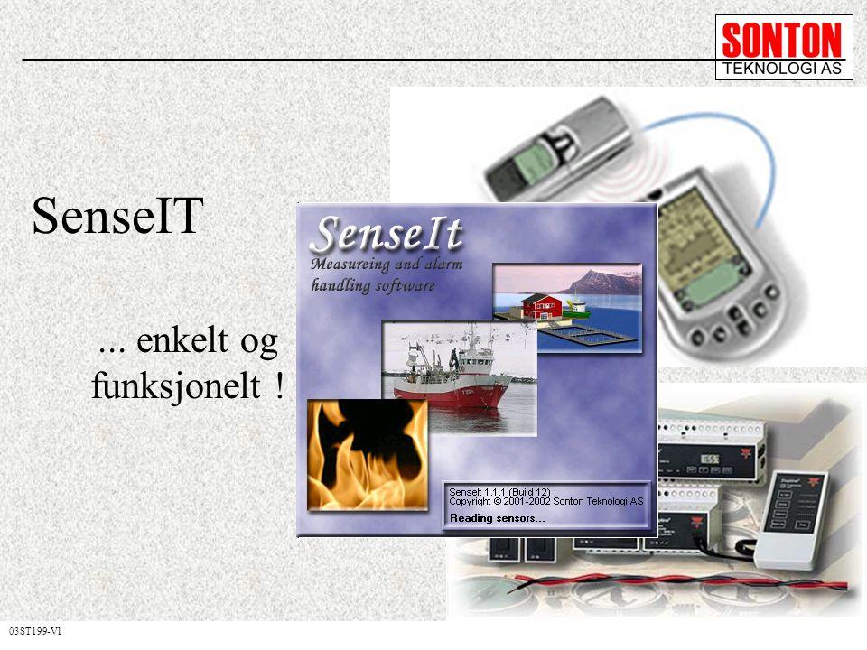 SenseIT er programmet som: Logger signaler (temp, trykk, fuktighet,...) Sender alarmer til GSM mobiltelefon Kan fungere som en WEB-server Sparer deg for konfigurasjonstid Krever minimal opplæring