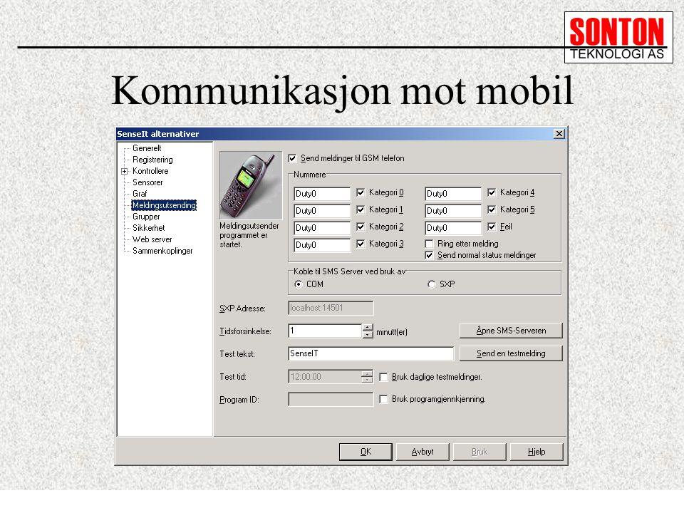 Kommunikasjon mot mobil