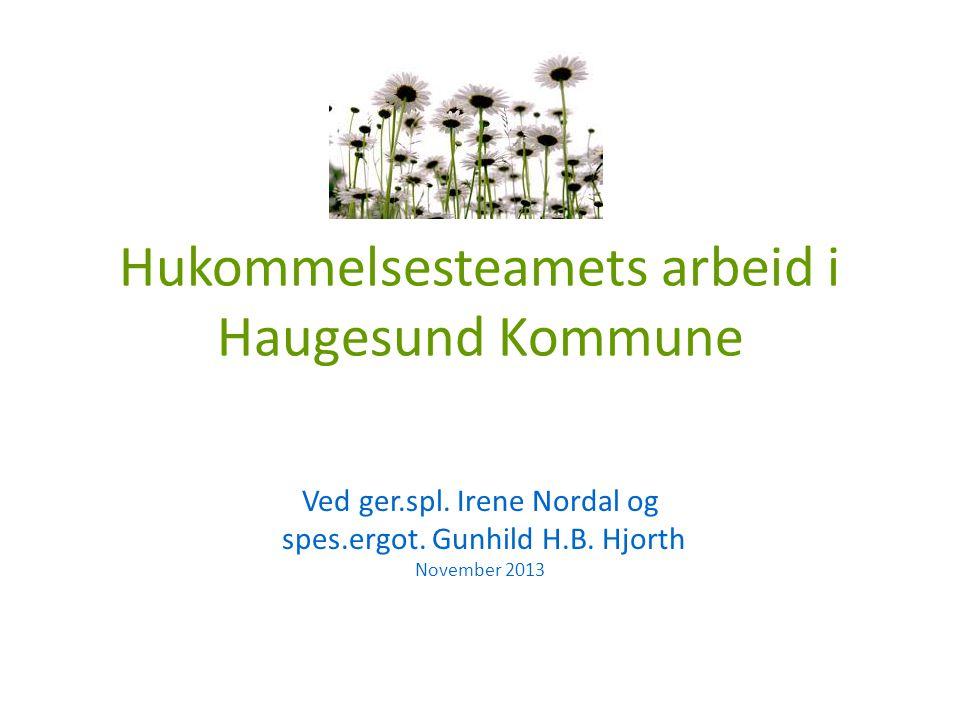 Hukommelsesteamets arbeid i Haugesund Kommune Ved ger.spl.