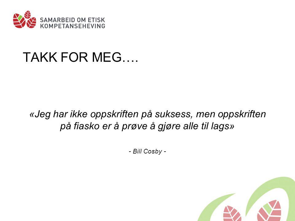 TAKK FOR MEG….