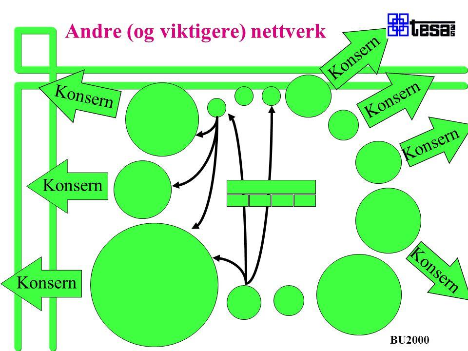 Konsern Andre (og viktigere) nettverk Konsern BU2000