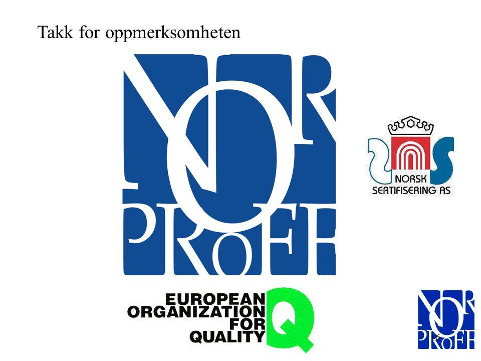 15 Til slutt Målet vårt er å bidra til å utarbeide et kvalitetsstyringssystem som bidrar til økt verdiskaping og tilrettelegger for videre organisk ve