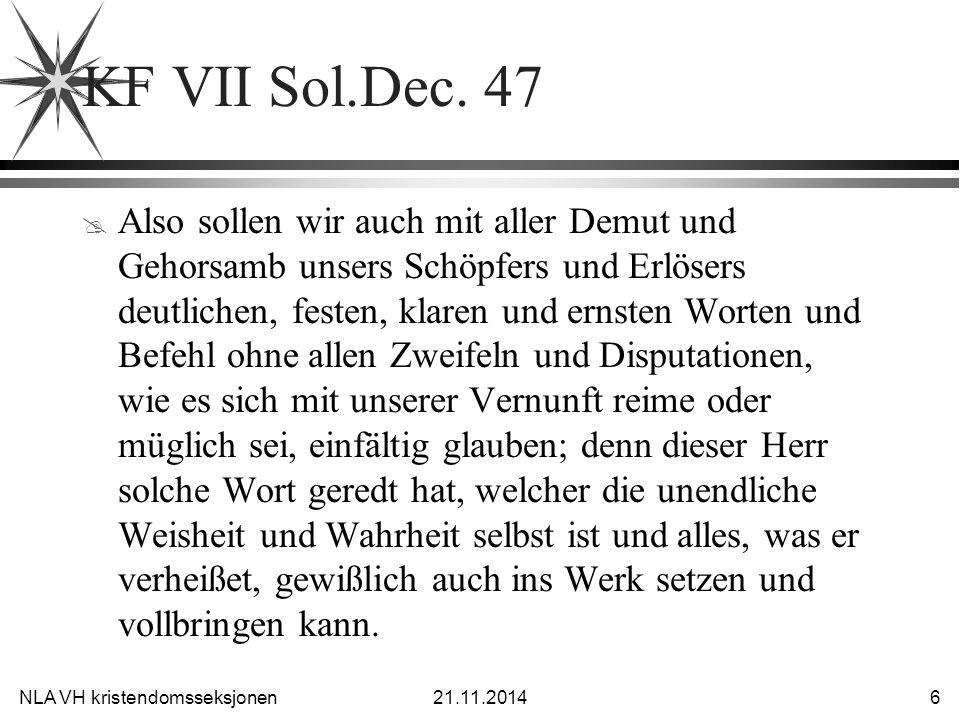NLA VH kristendomsseksjonen21.11.2014 7 KF VII Sol.Dec.