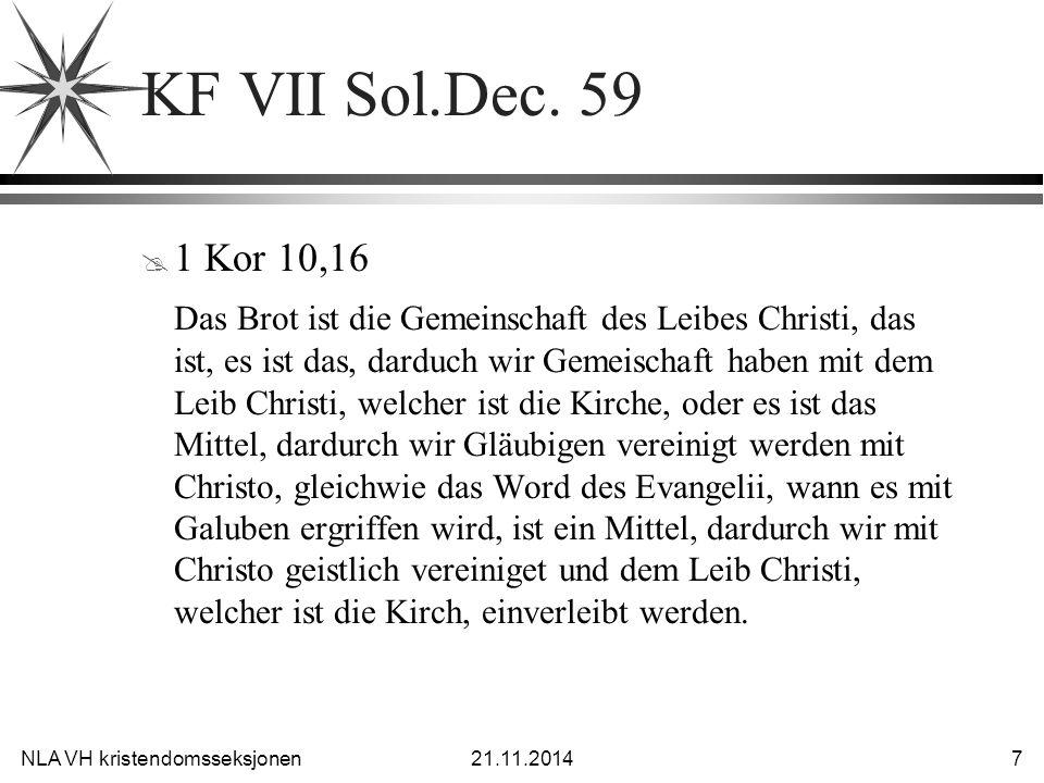 NLA VH kristendomsseksjonen21.11.2014 8 KF VII Sol.Dec.