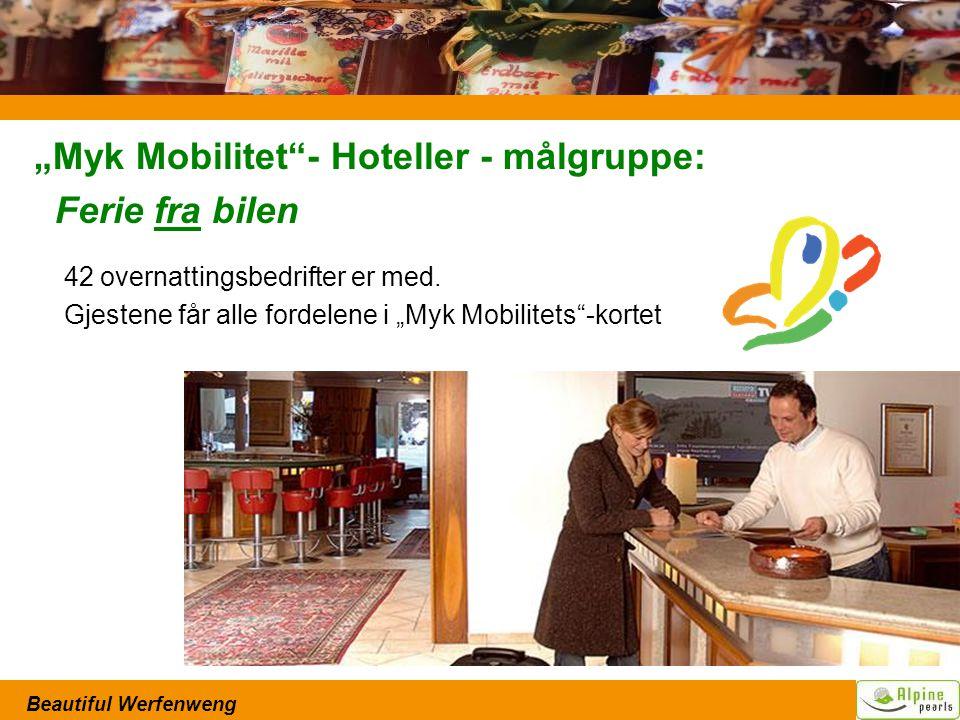 """Beautiful Werfenweng """"Myk Mobilitet - Hoteller - målgruppe: Ferie fra bilen 42 overnattingsbedrifter er med."""