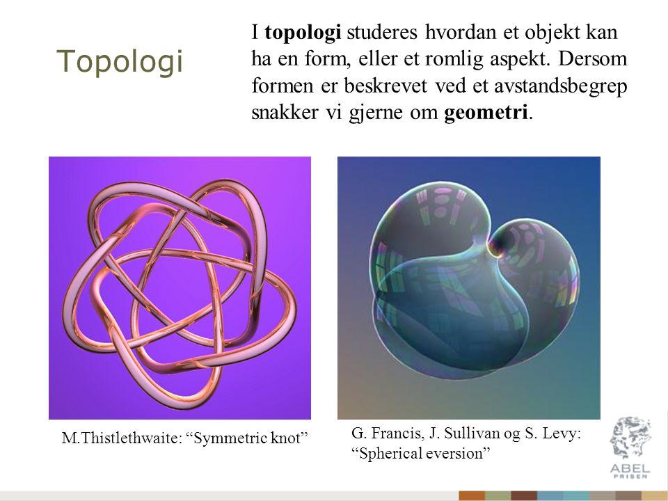 Topologi M.Thistlethwaite: Symmetric knot G. Francis, J.