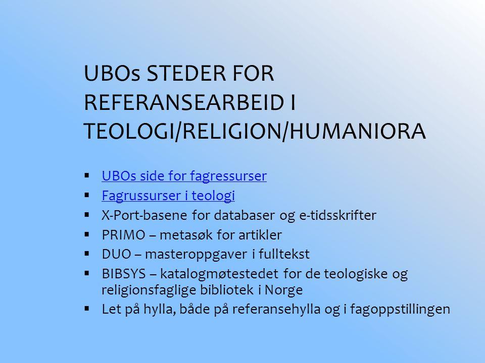 Eks 9 Utenlandsk student trenger litteratur om Den norske kirke, på engelsk eller tysk.