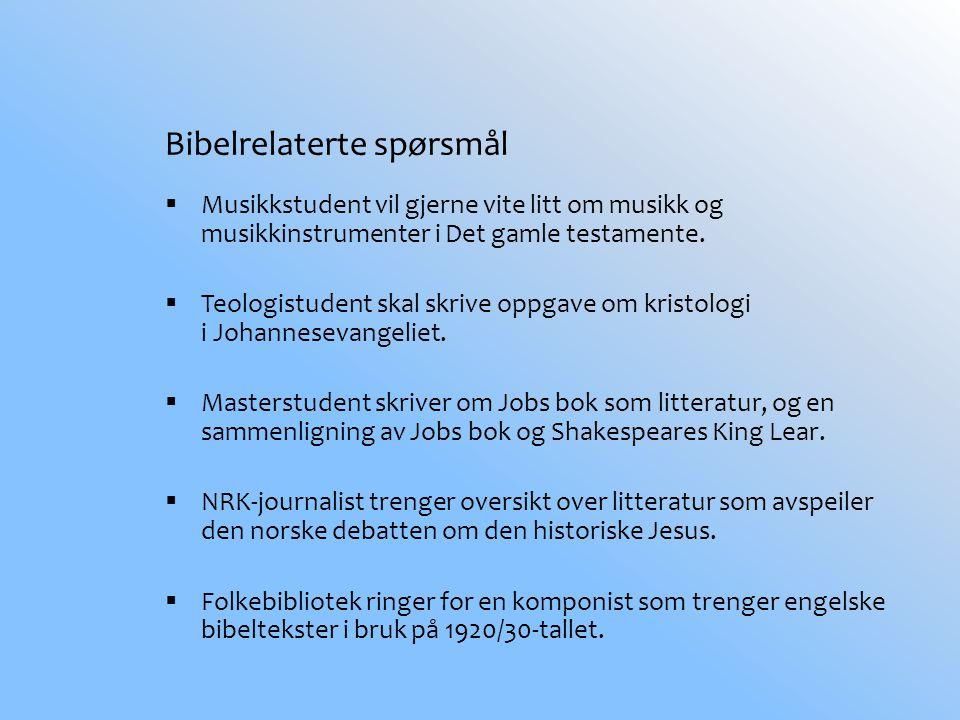 Bibelrelaterte spørsmål  Musikkstudent vil gjerne vite litt om musikk og musikkinstrumenter i Det gamle testamente.