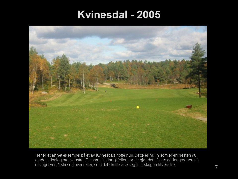 7 Kvinesdal - 2005 Her er et annet eksempel på et av Kvinesdals flotte hull.