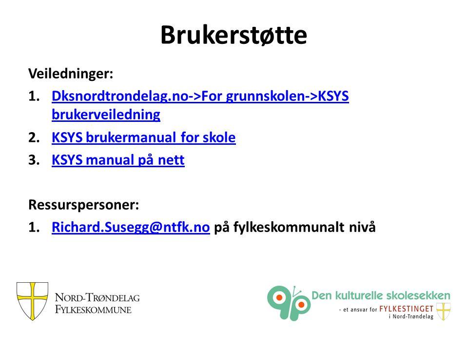 Veiledninger: 1.Dksnordtrondelag.no->For grunnskolen->KSYS brukerveiledningDksnordtrondelag.no->For grunnskolen->KSYS brukerveiledning 2.KSYS brukerma