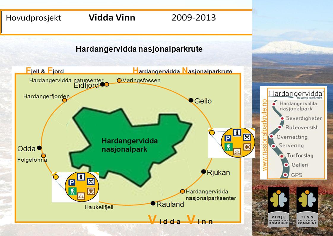 Innovativ Fjellturisme – et prosjekt i Arena-programmet, 2004-2008 www.fjellturisme.no Hardangervidda nasjonalparkrute