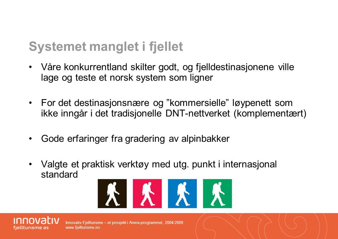 Innovativ Fjellturisme – et prosjekt i Arena-programmet, 2004-2008 www.fjellturisme.no Hemsedal Topp 20 – et konsept med suksess Hemsedals mest populære sommeraktivitet.