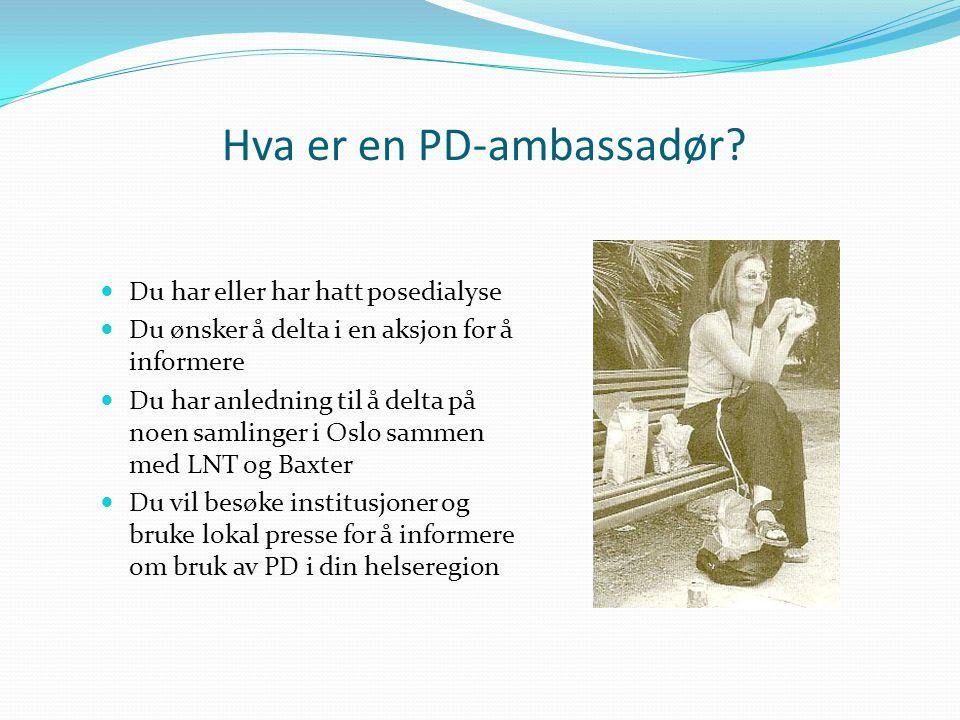 Hva er en PD-ambassadør.