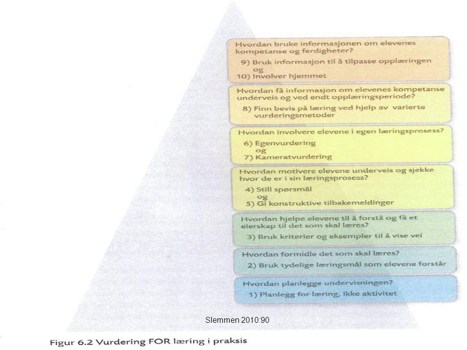 Tilbakemeldinger: Mattias Øhra17 Tilbakemeldinger fra lærer og medelever er en viktig del av læringsprosessen, og elevene har krav på informasjon om hvor de står i forhold til faglige mål.