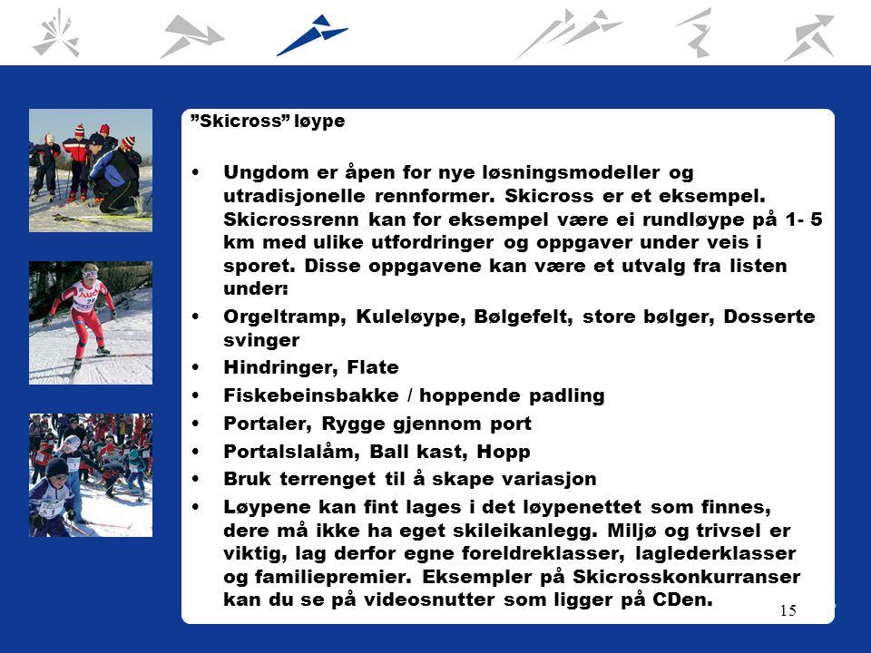 15 Skicross løype Ungdom er åpen for nye løsningsmodeller og utradisjonelle rennformer.