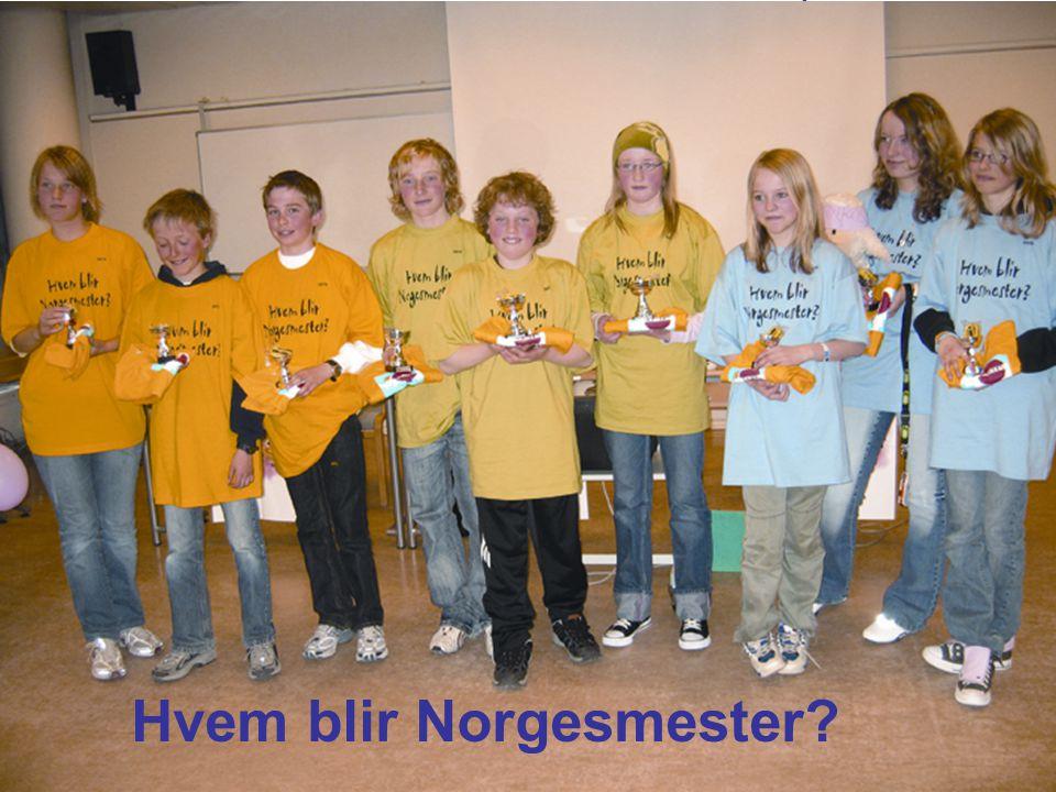 Landsmøter Bergen 2007 Mye å bygge videre på: Hvem blir Norgesmester