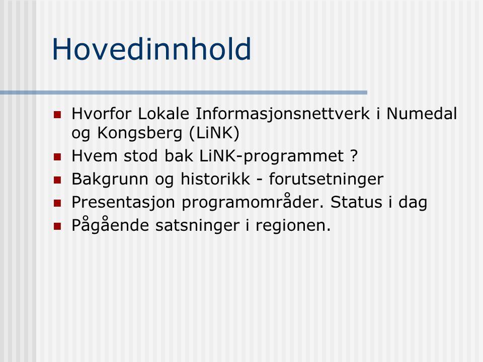 Hvordan løfte en hel region inn i e-samfunnet ? LiNK-programmet i Numedal/Kongsberg Rådmann Jon Gjæver Pedersen jon-gj.pedersen@flesberg.kommune.no Lo