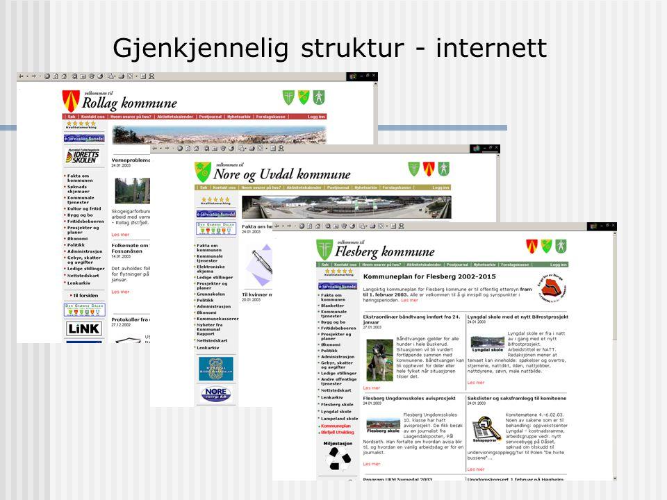 """e-Forvaltning Resultater: Sommeren 2000 var """"sammenslåingen"""" et faktum Felles baser for intranett og internett, samt felles base for kalender- og mail"""