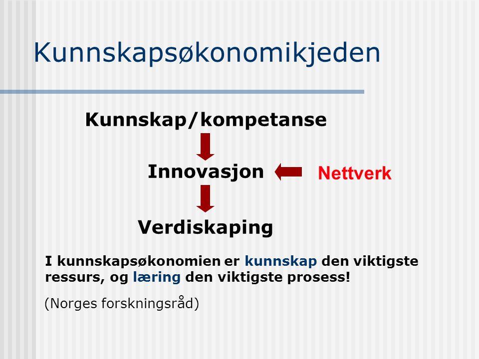 Strategi - hovedelementer Kompetanse Nettverk (informasjonsnettverk) Teknologisk infrastruktur