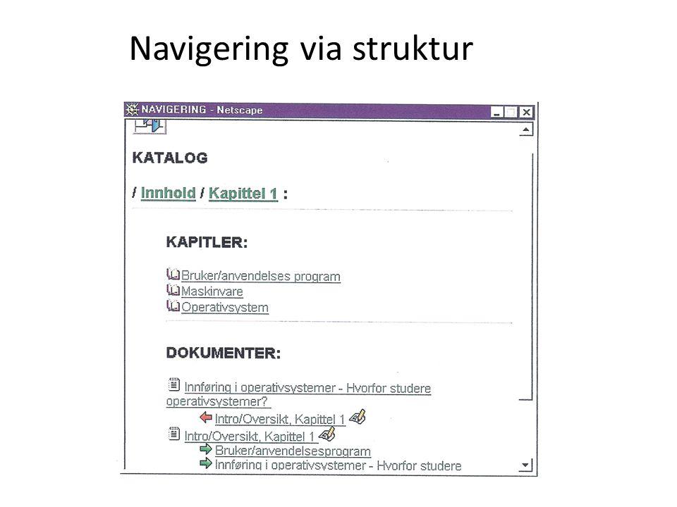 Navigering via struktur