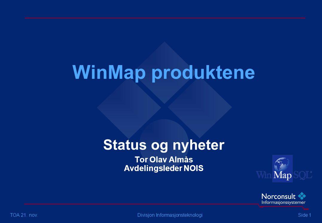 WinMap produktene TOA 21.