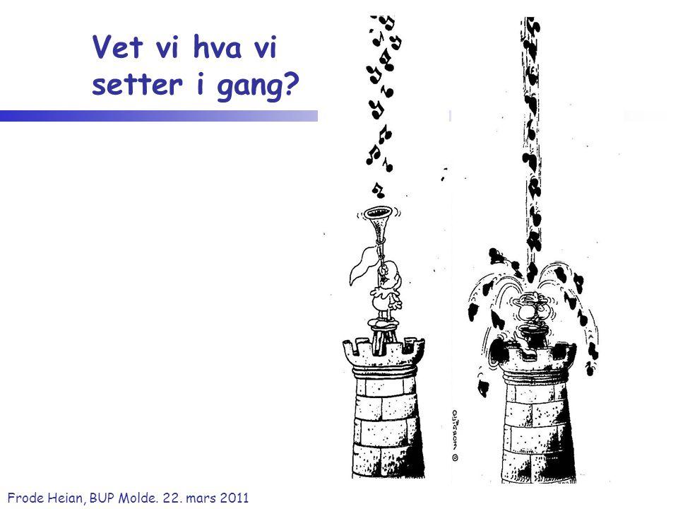 Frode Heian, BUP Molde. 22. mars 2011 Vet vi hva vi setter i gang?