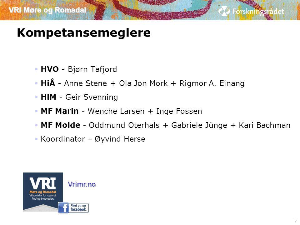 VRI Møre og Romsdal Forprosjekter i VRI 2014 8 I bedrifter eller off.