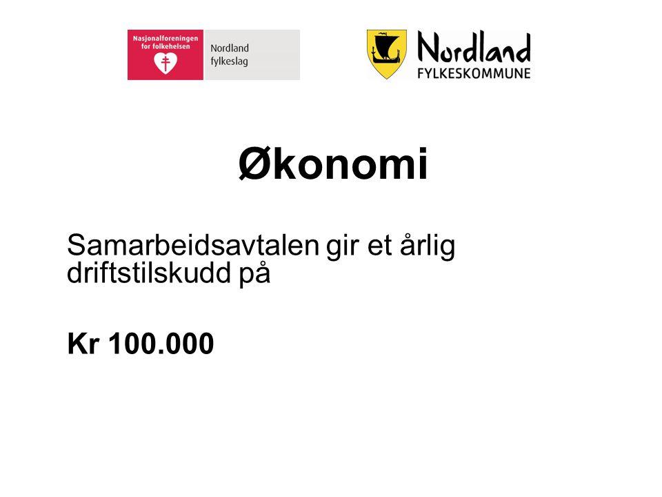 Økonomi Samarbeidsavtalen gir et årlig driftstilskudd på Kr 100.000