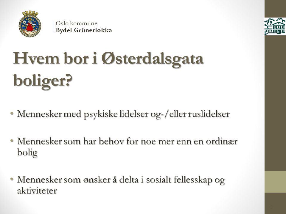 Hvem bor i Østerdalsgata boliger.