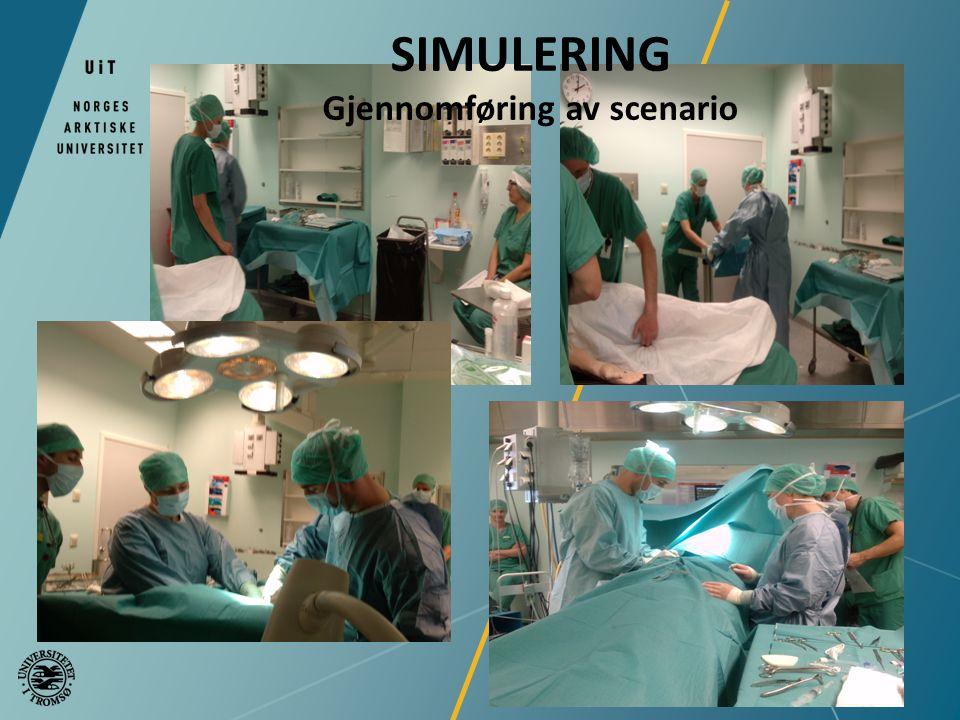 SIMULERING Gjennomføring av scenario