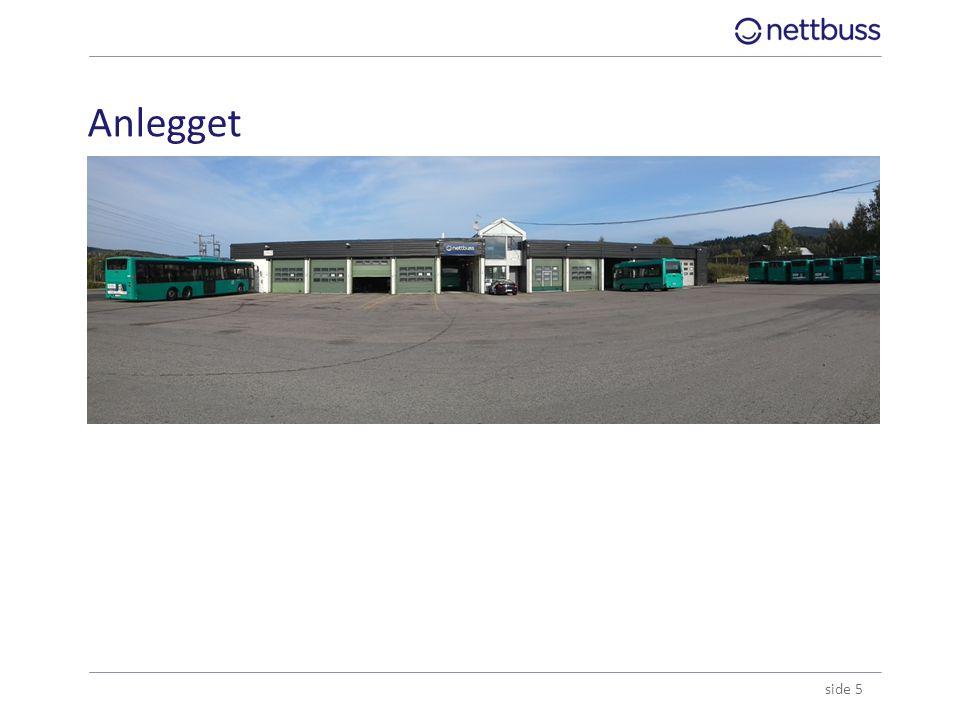 Anlegget ●Anleggsbefaring gjennomført 20.august med eier, Ruter# og Nettbuss.