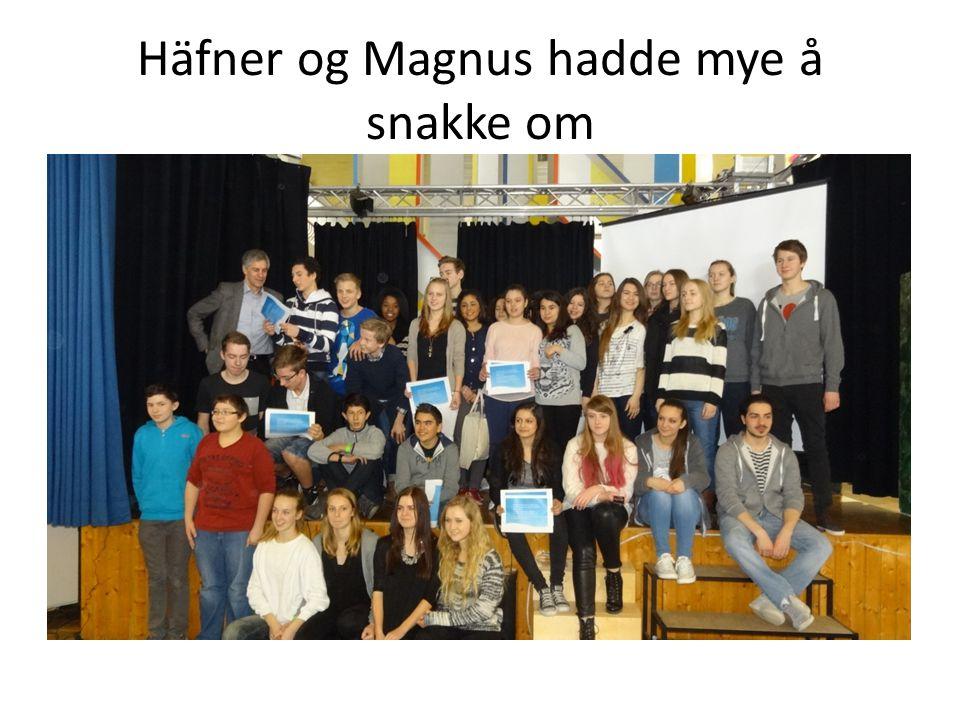 Häfner og Magnus hadde mye å snakke om