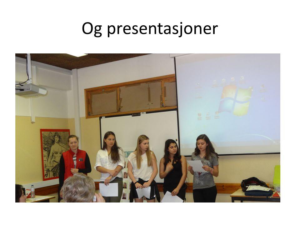 Og presentasjoner