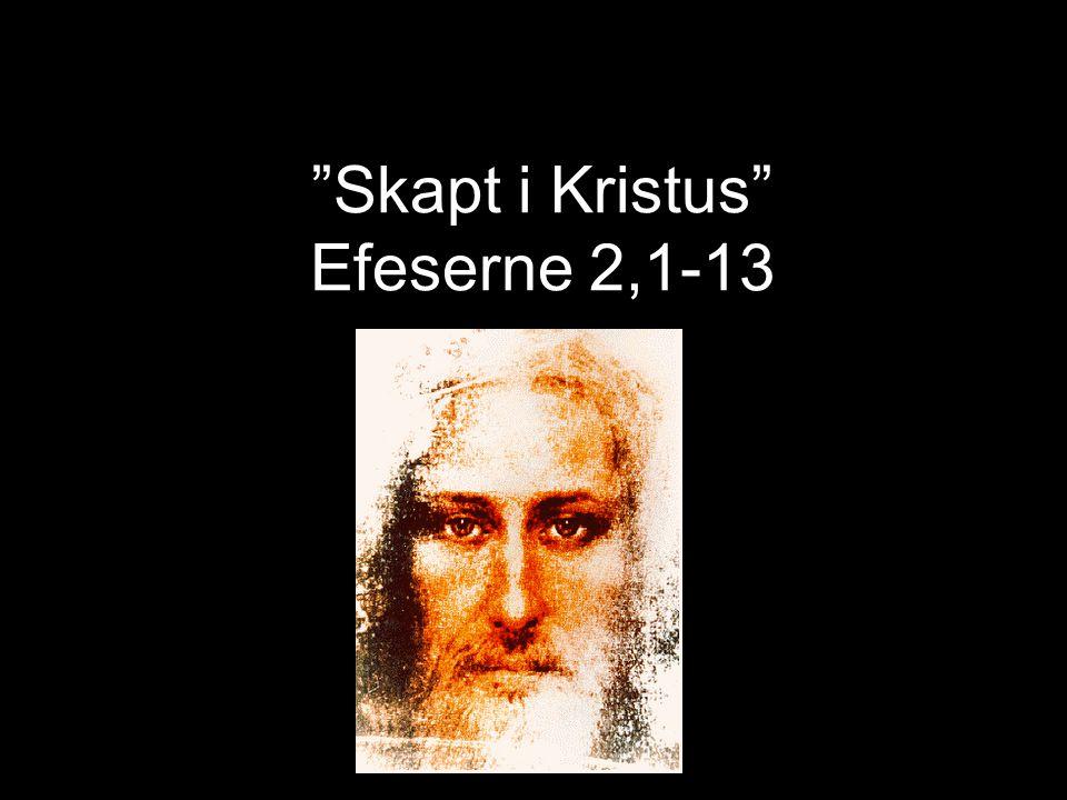 Skapt i Kristus - Efeserne 2,1-13 Efeserne 2,1.3-5 Dere var en gang døde på grunn av misgjerningene og syndene deres… Ja, vi levde alle en gang som de.